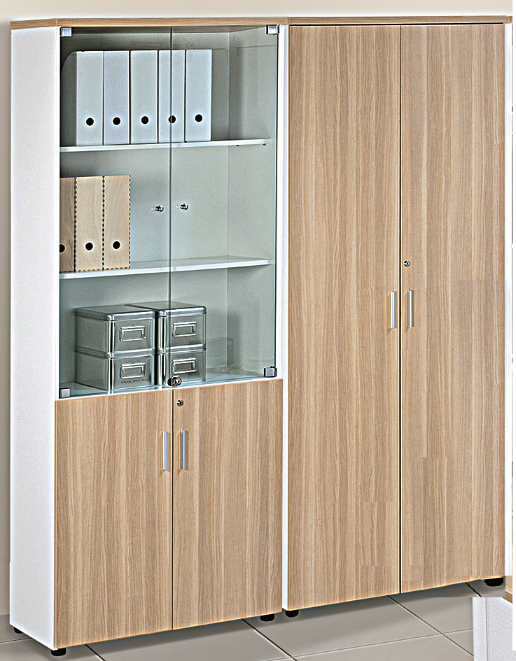Cabinets With White Body Chipboard Laminated Finished